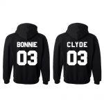 Bedrukte hoodies Bonnie Clyde